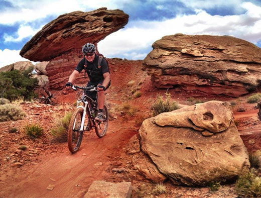 Steve mountain biking in Moab, Utah