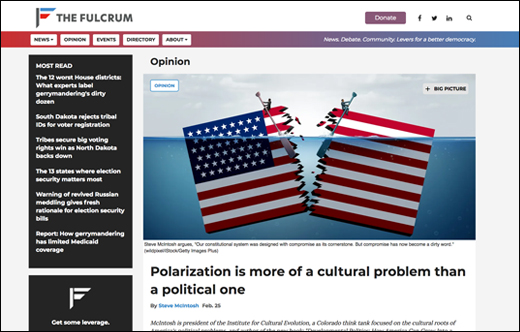 Fulcrum Op-ed: Polarization Is More of a Cultural Problem Than a Political One