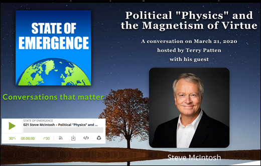 Political 'Physics' Podcast with Terry Patten