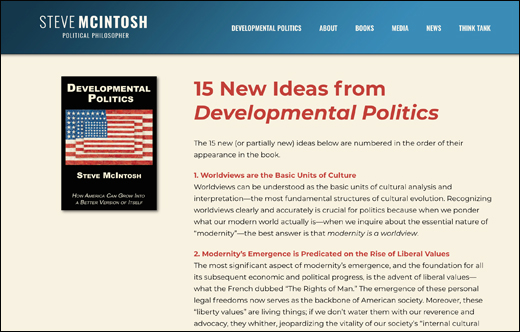 15 New Ideas from Developmental Politics: summaries of the book's original thinking